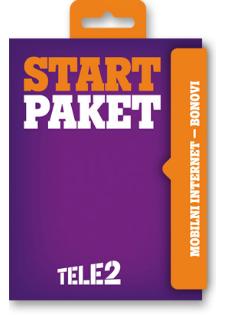 Start paket Mobilni internet na bonove
