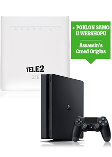 ZTE 4G WiFi Router i PlayStation®4 Slim 500GB
