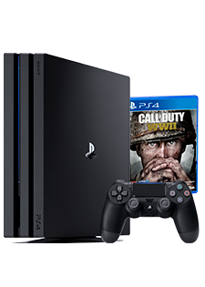 Sony PlayStation®4 Pro 1TB i COD:WW II