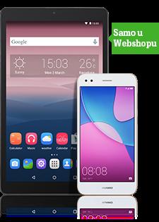 Huawei P9 Lite Mini Dual SIM zlatni i Alcatel Pixi3 tablet