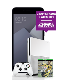 Mirosoft Xbox One S, Xiaomi Note 5A, Fifa 2017 i Overwatch