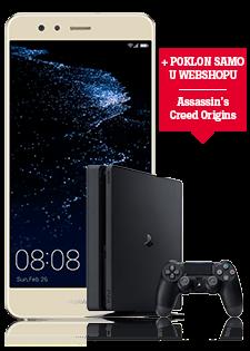 Huawei P10 Lite Dual SIM zlatni i Sony Playstation 4 Slim 500GB