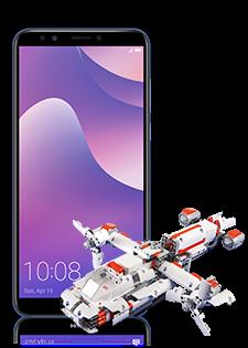 Huawei Y7 Prime 2018 Dual SIM Blue i Mi Robot Builder