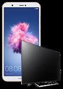 Huawei P Smart zlatni i Sony Smart TV KDL-43WE755
