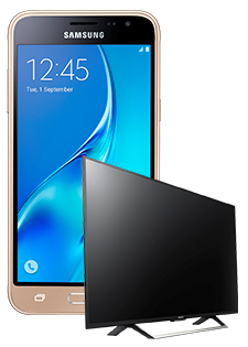 Samsung Galaxy J3 i Sony Smart TV