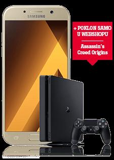Samsung Galaxy A5 2017 zlatni i Sony PlayStation 4 500GB