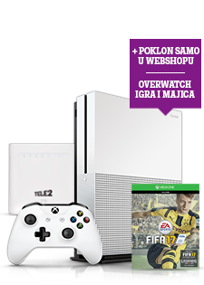 Microsoft Xbox One S 500GB, FIFA 2017 i 4G WiFi Router